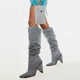 Pointed Toe Slip-On Fashion Knee High Boots