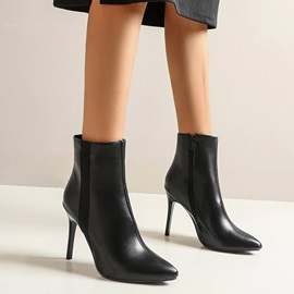 Stiletto Heel Side Zipper Pointed Toe Zipper Boots