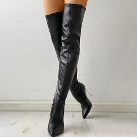 Stiletto Heel Pointed Toe Back Zip Sexy Boots