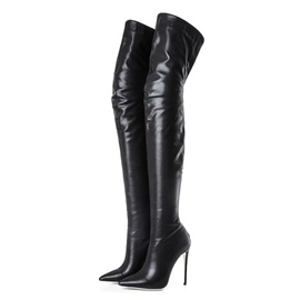 Plain Back Zip Pointed Toe Western Boots