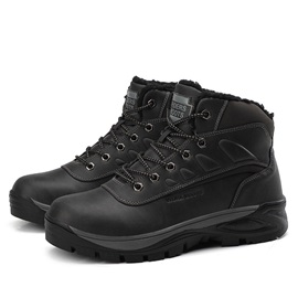 Round Toe Lace-Up Front Boots