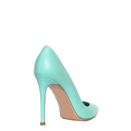 Blue Special Design Stiletto Heels Pointed Closed-toe Women Shoes