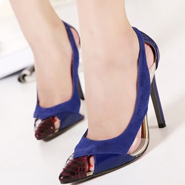 Color Block Cut-Out Pointed Toe Stilettos