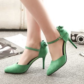 Suede Ankle Strap Classic Pumps