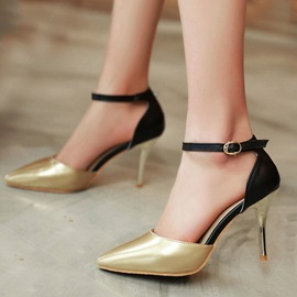 Metallic Round Toe Classic Pumps