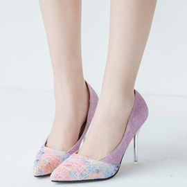 Korea Sequins Slip-On Stiletto Heel Women's Pumps