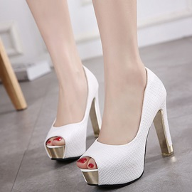 PU Slip-On High Heel Simple Women's Pumps