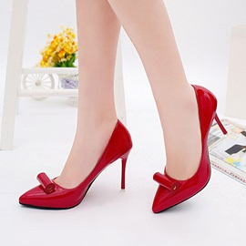 PU Slip-On Pointed Toe Stiletto Women's Pumps