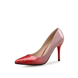 PU Pointed Toe Gradient Women's Classic Pumps