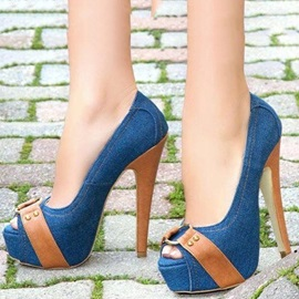 Peep Toe Stiletto Heel Pumps