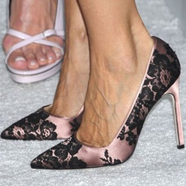 Lace Slip-On Stiletto Heel Sexy Pumps