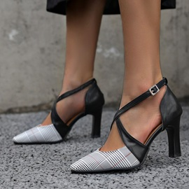 Pointed Toe Buckle Buckle Casual Thin Shoes