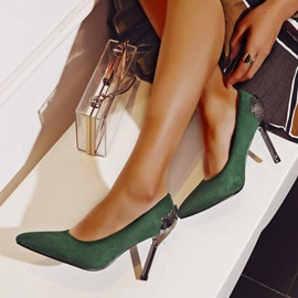 Pointed Toe Stiletto Heel Slip-On Low-Cut Upper Thin Shoes