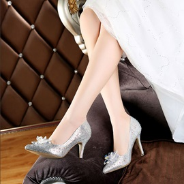 Stiletto Heel Slip-On Pointed Toe Western Thin Shoes