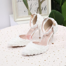 Line-Style Buckle Stiletto Heel Appliques 9cm Thin Shoes