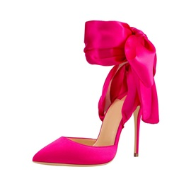 Pointed Toe Stiletto Heel Lace-Up Ultra-High Heel(≥8cm) Thin Shoes