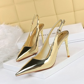 Pointed Toe Stiletto Heel Buckle Buckle Sandals