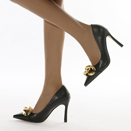Pointed Toe Stiletto Heel Slip-On Banquet Thin Shoes