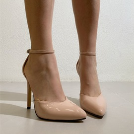 Stiletto Heel Buckle Pointed Toe Western Thin Shoes