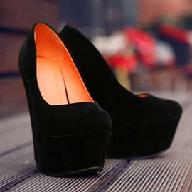 Solid Color Wedges Shoes