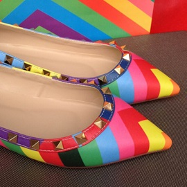 New Collection Colorful Strips & Rivets Boat Shoes