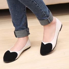 Color Block Pointed-Toe Women's Flats