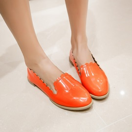 Candy Color PU Slip-On Flats