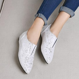 Sequins Round Toe Slip-On Flats