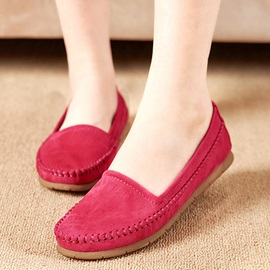 Simple PU Slip-On Round Toe Women's Flats