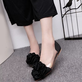 PU 3D Slip-On Flower Women's Flats