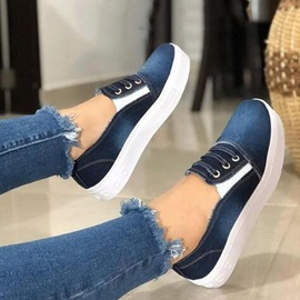 Round Toe Slip-On Thread Low-Cut Upper Thin Shoes
