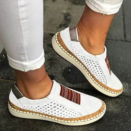 Hollow Flat With Slip-On Patchwork Thin Shoes