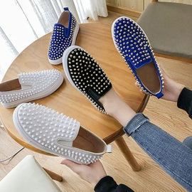 Rivet Flat With Slip-On Plain Thin Shoes