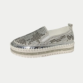 Thread Round Toe Slip-On Casual Thin Shoes
