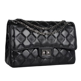 PU Embossing Argyle Women Shoulder Bag