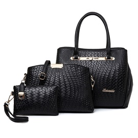 Chic Croco-embossed Women's Bag Set ( Three Bags )