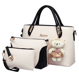 Sweet Color Cute Pendant Decorated Women's Bag Set ( Three Bags )