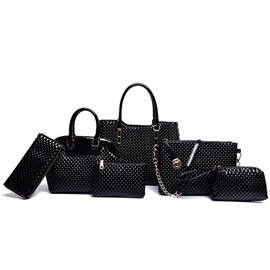 High Quality Pure Color Women's Bag Set ( Six Bags )