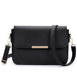 Pure Color with Cover Crossbody Bag