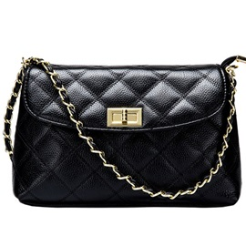 Lining Plaid Embossed Rotate Latch Cross Body