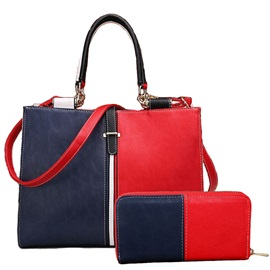 European Color Block Thread Decorated Bag Sets