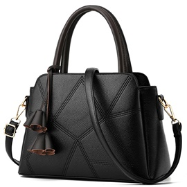 Vogue Geometric Thread Patchwork Women Satchel