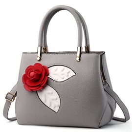 Sweet Flower Decorated Women Satchel