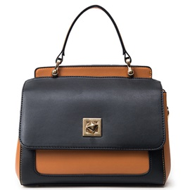 Vogue Color Block Latch Women Satchel
