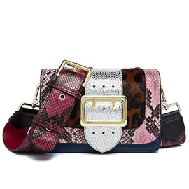 Celebrity Serpentine Patchwork Shoulder Bag