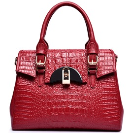 Temperament Stereo Croco-Embossed Women Satchel