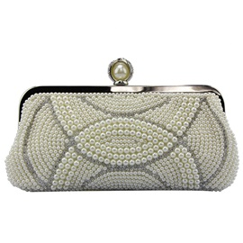 Noble Beaded Embroidery Evening Clutch