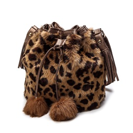 Vogue Draw Sring Fuzzy Bucket Shoulder Bag