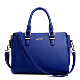 European Classic Cross Grain PU Women Satchel