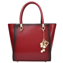 Retro Style Pure Color PU Women Tote Bag
